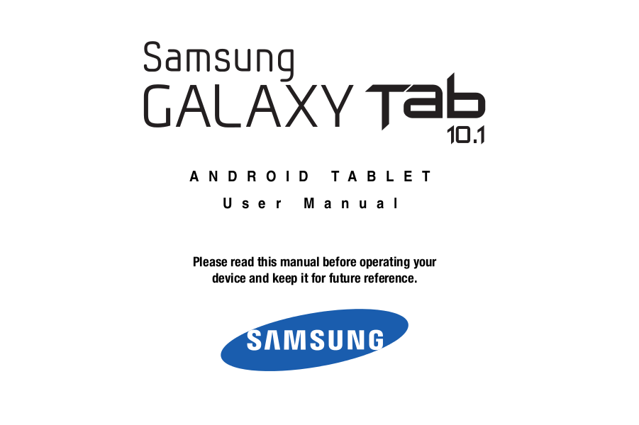 User Manual For Samsung Tablet 3 10.1