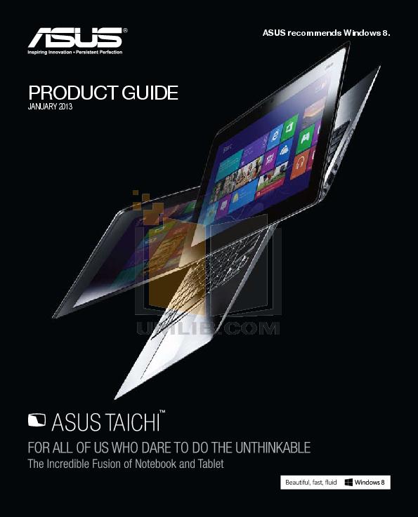 pdf for Asus Tablet Eee Slate EP121 32GB manual