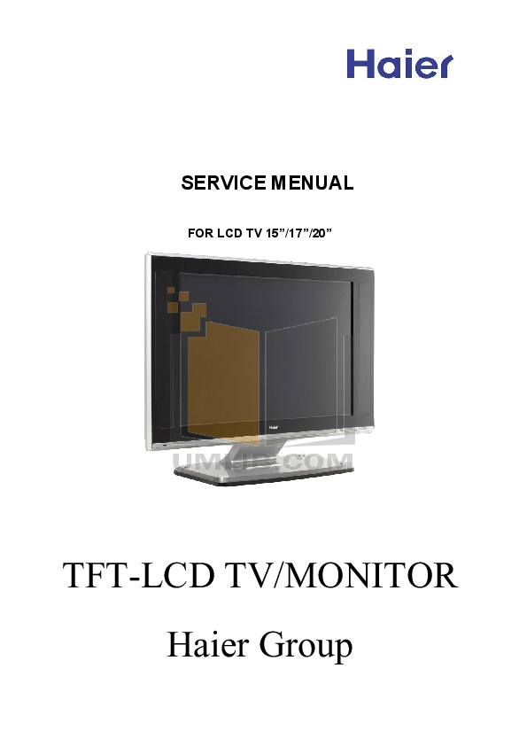 pdf for Haier TV L20AV6-A0 manual