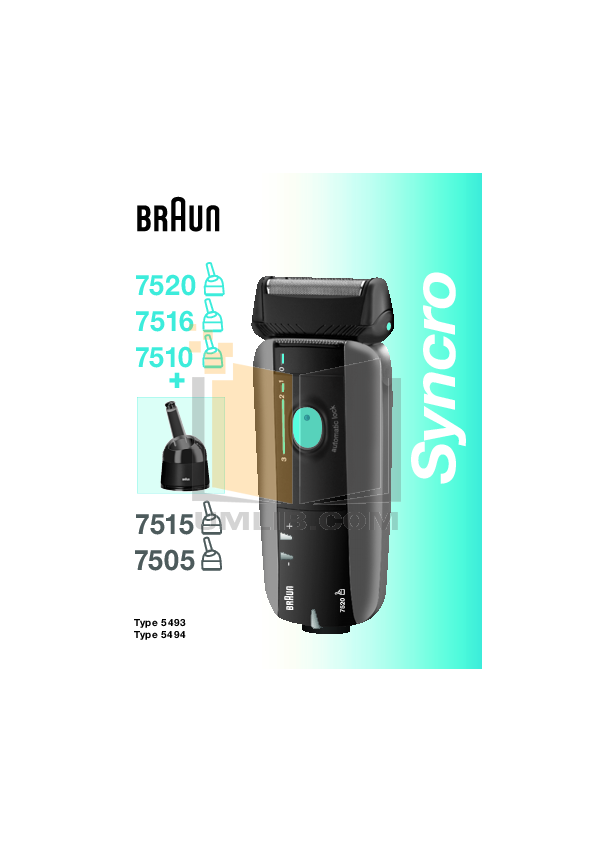 pdf for Braun Other Syncro 7520 Shavers manual