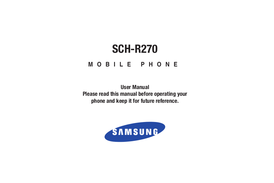 pdf for Samsung Cell Phone Contour manual