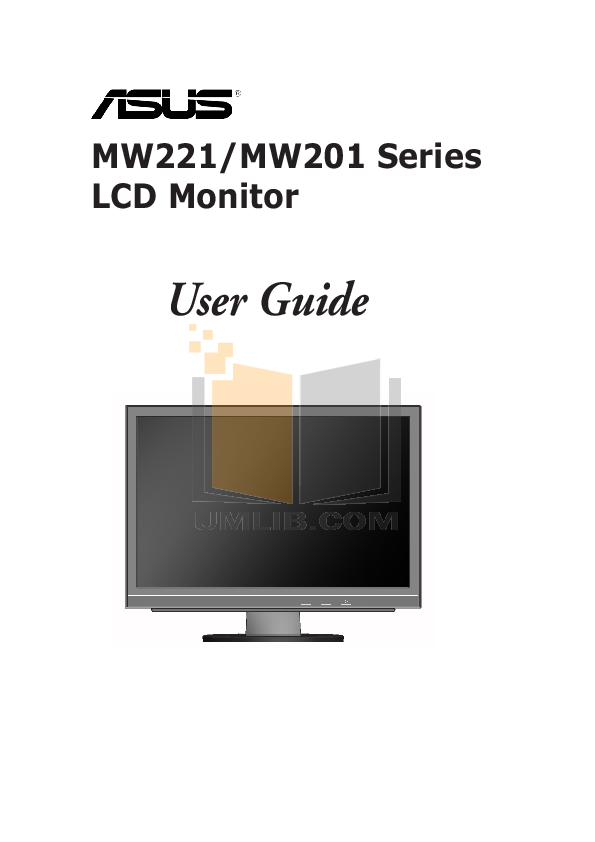 pdf for Asus Monitor MW201U manual