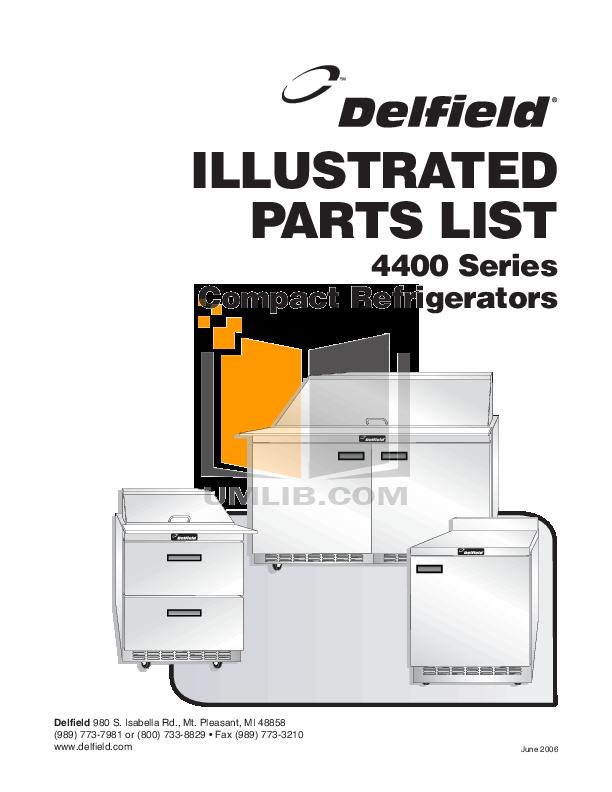 pdf for Delfield Refrigerator STD4427N manual