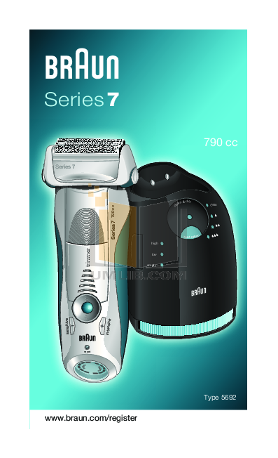 pdf for Braun Other Series 7 790 CC Shavers manual