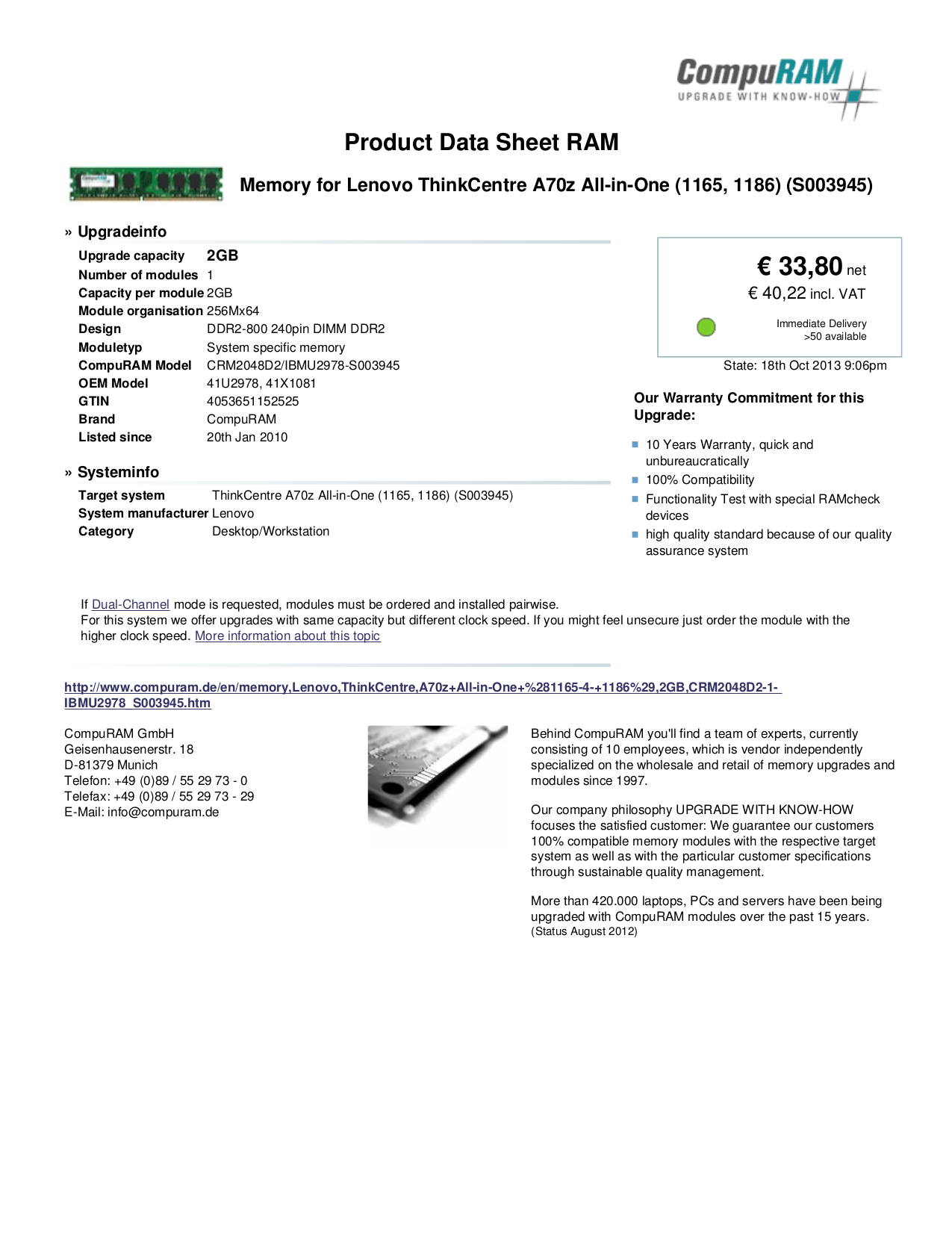 pdf for Lenovo Desktop ThinkCentre A70z 1165 manual