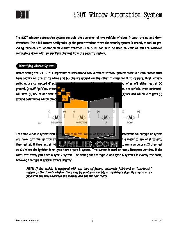 download free pdf for dei viper 350hv car alarms other manual rh umlib com Viper Window Automation System dei 520t manual