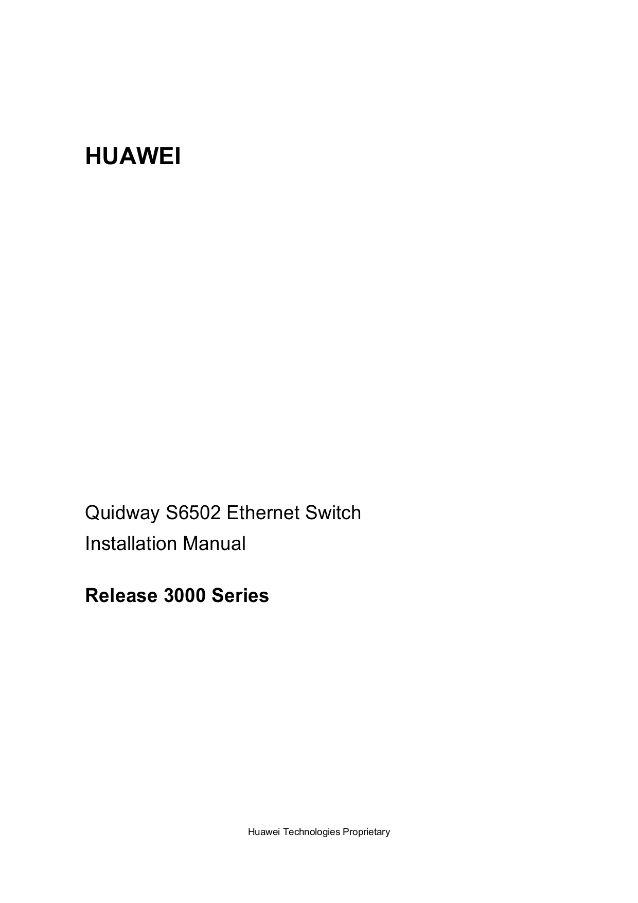 pdf for Huawei Switch Quidway S6503 manual