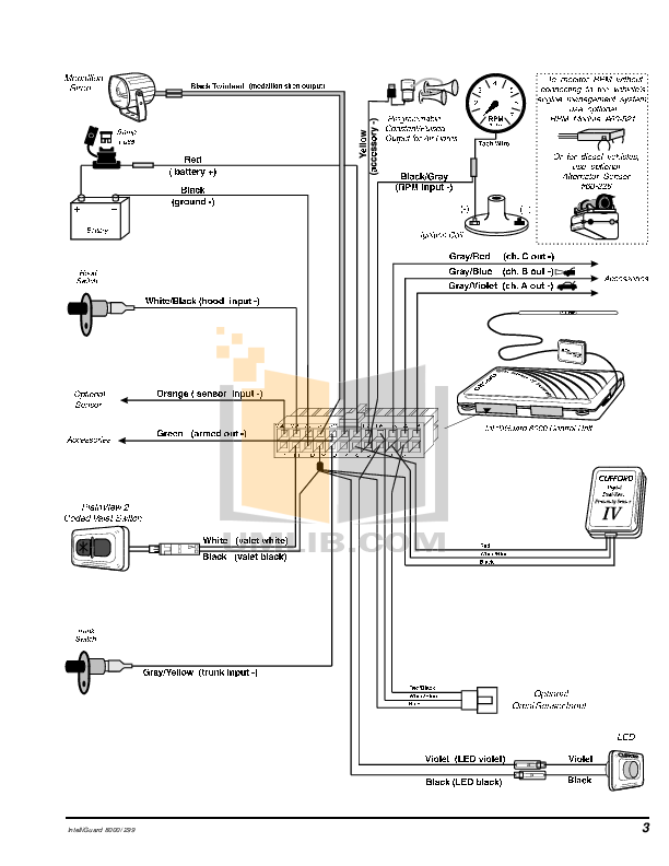 clifford g5 alarm wiring diagrams