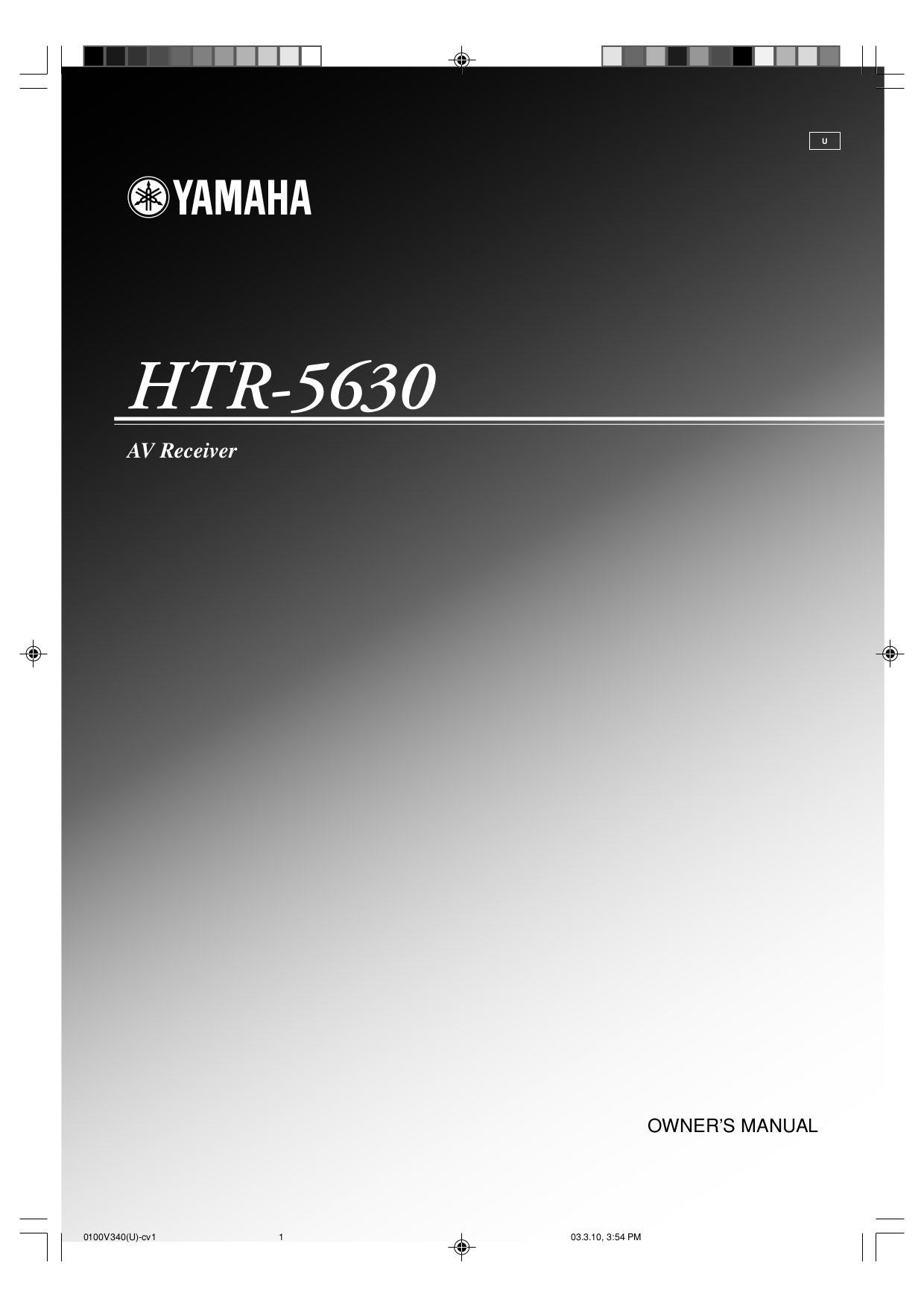 Download free pdf for nad htr 5 remote control manual for Yamaha rx v377 manual