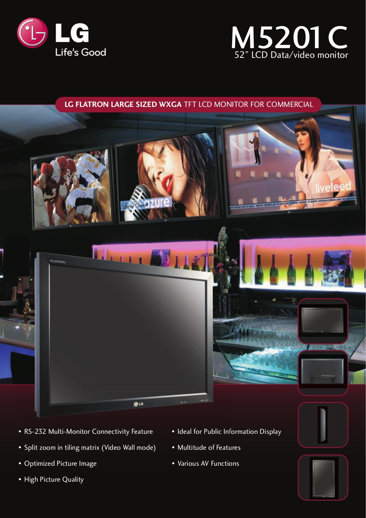 pdf for LG Monitor M5201C manual