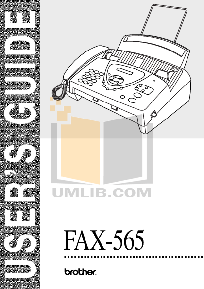 brother fax 565 manual