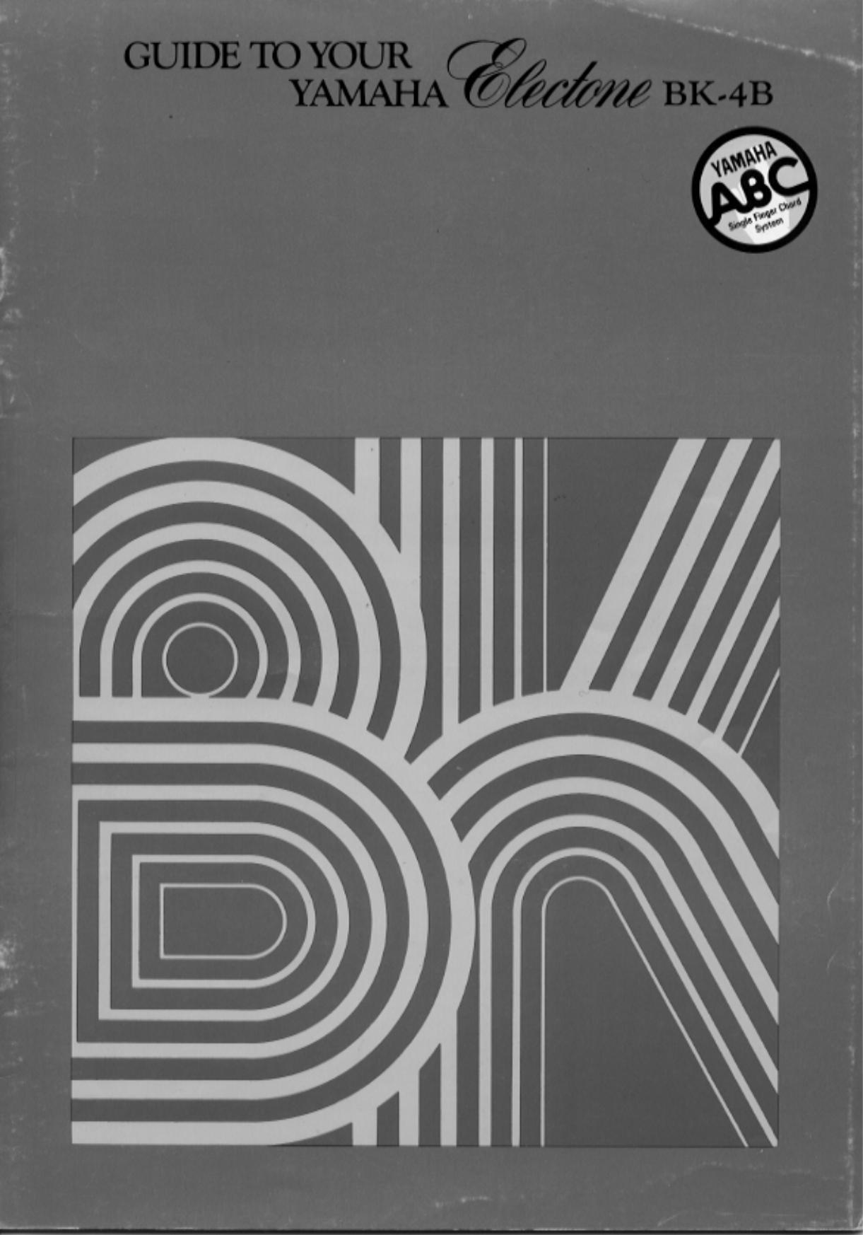 pdf for Yamaha Music Keyboard BK-5C manual