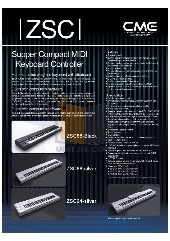 Cme u-key white mobile keyboard controller keyboards studio.