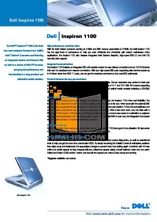 download free pdf for dell inspiron 1100 laptop manual rh umlib com Dell Inspiron 1100 Power Cord Button Battery Location Dell Inspiron 5160