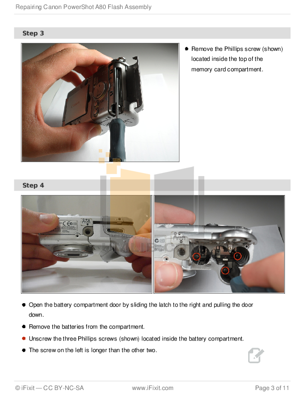 Canon Digital Camera Powershot A80 pdf page preview