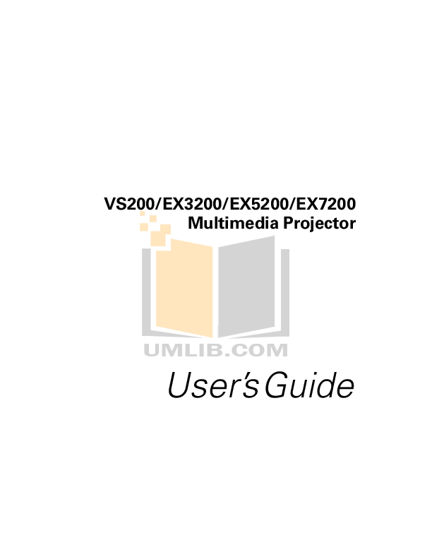 pdf for Epson Projector EX3200 manual