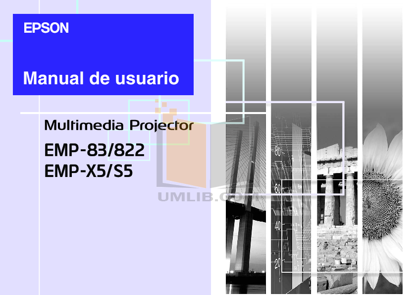 pdf for Epson Projector EMP-X5 manual