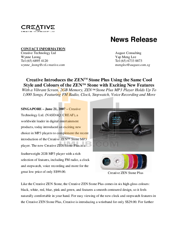 download free pdf for creative zen zen stone 1gb mp3 player manual rh umlib com Creative Zen Stone Software Creative Zen Stone Software