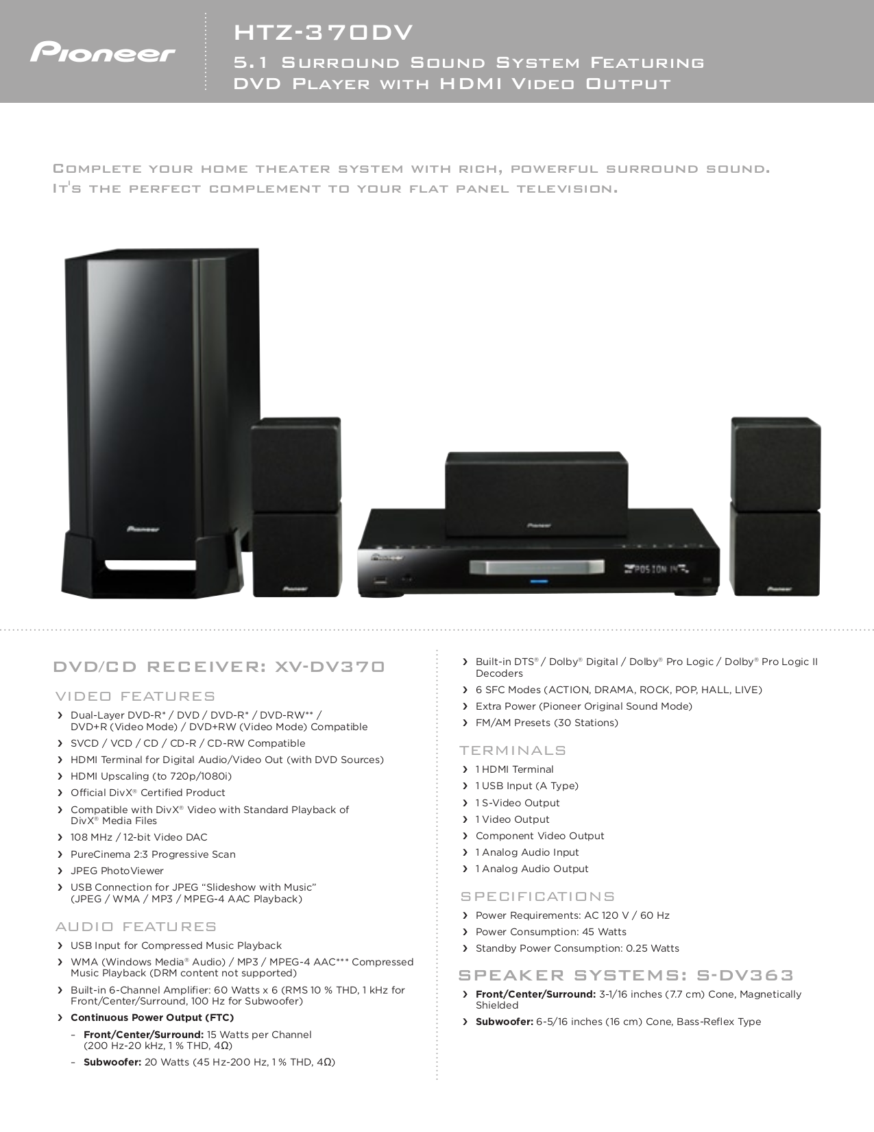 download free pdf for pioneer htz 370dv home theater manual rh umlib com home theater pioneer todoroki manual pioneer 5.1 home theater system htp-074 manual