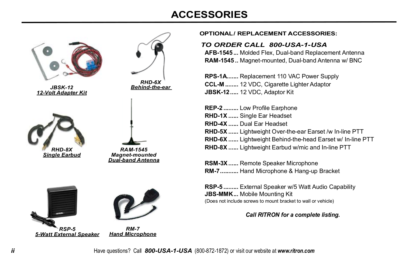 Ritron Other Patriot PBS-146D CANADA Base Stations pdf page preview