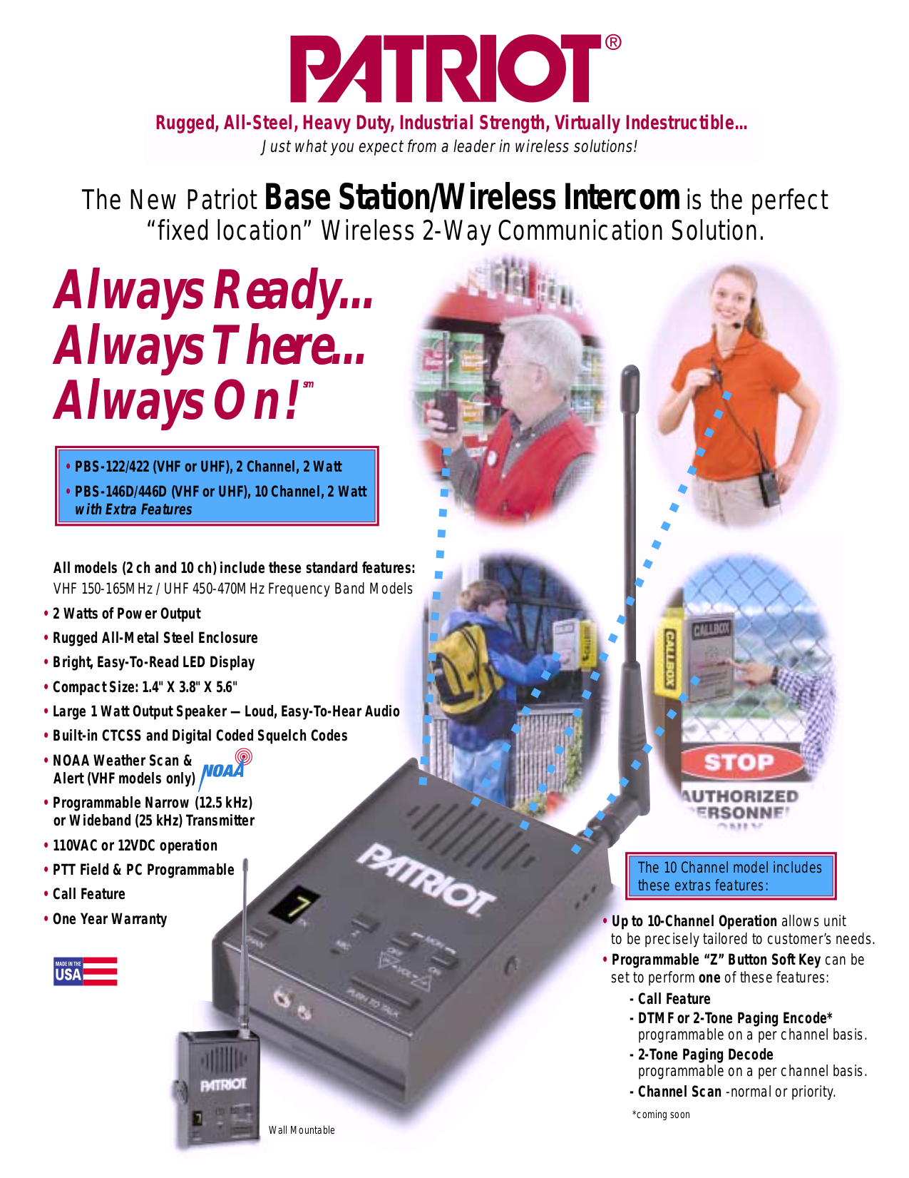 pdf for Ritron Other Patriot PBS-146D CANADA Base Stations manual