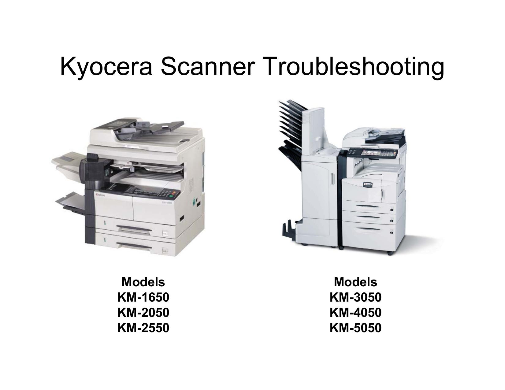 Download free pdf for Kyocera KM-5050 Scanner manual
