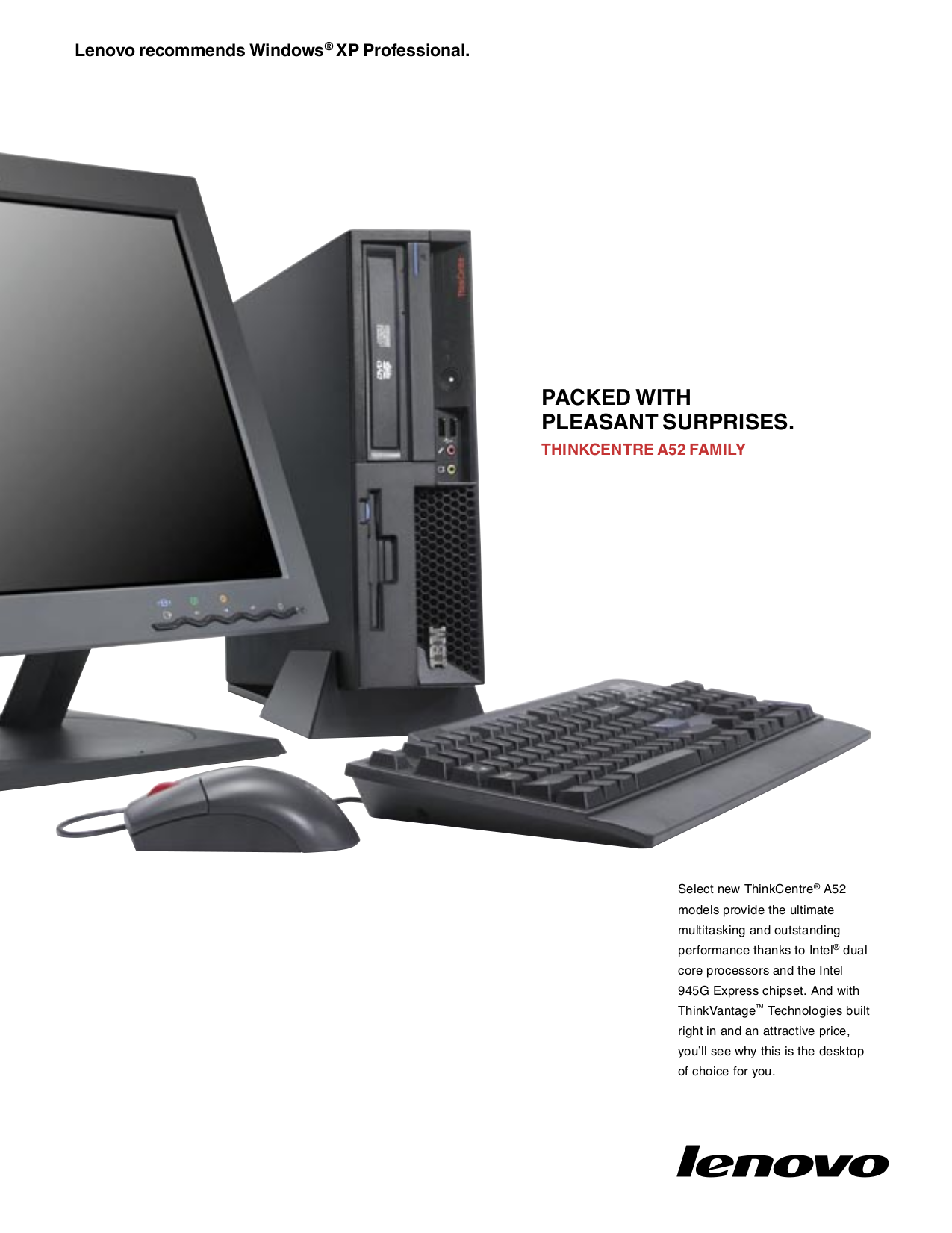 pdf for Lenovo Desktop ThinkCentre A52 8382 manual