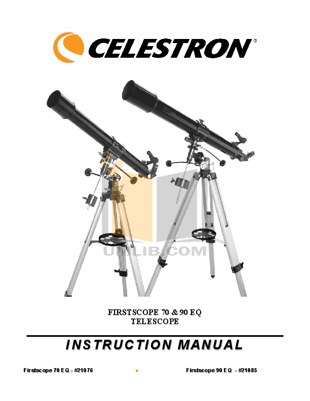 pdf for Celestron Other FirstScope 21076 Refractor manual