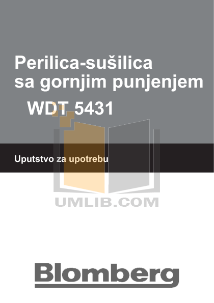 Pdf For Blomberg Washer WDT 5431 Manual