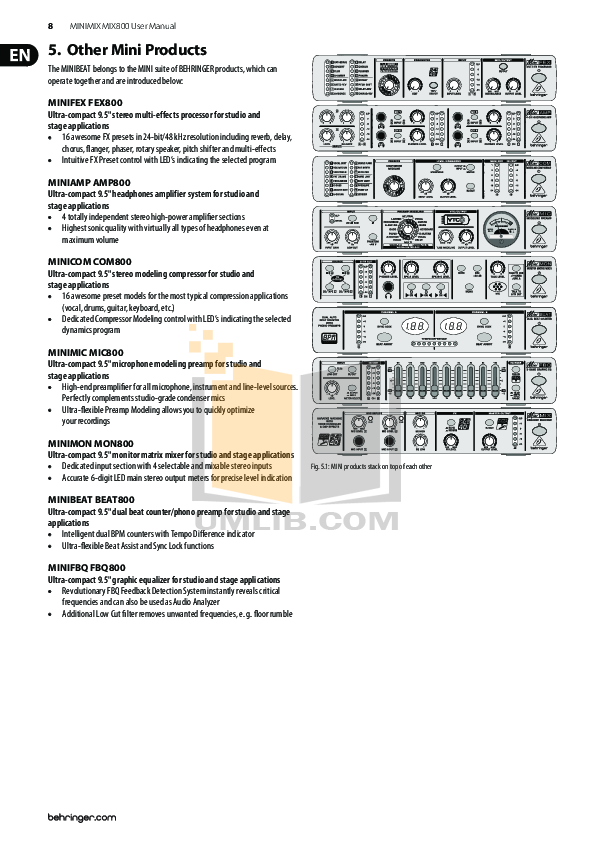 PDF manual for Behringer Other FBQ800 Equalizers