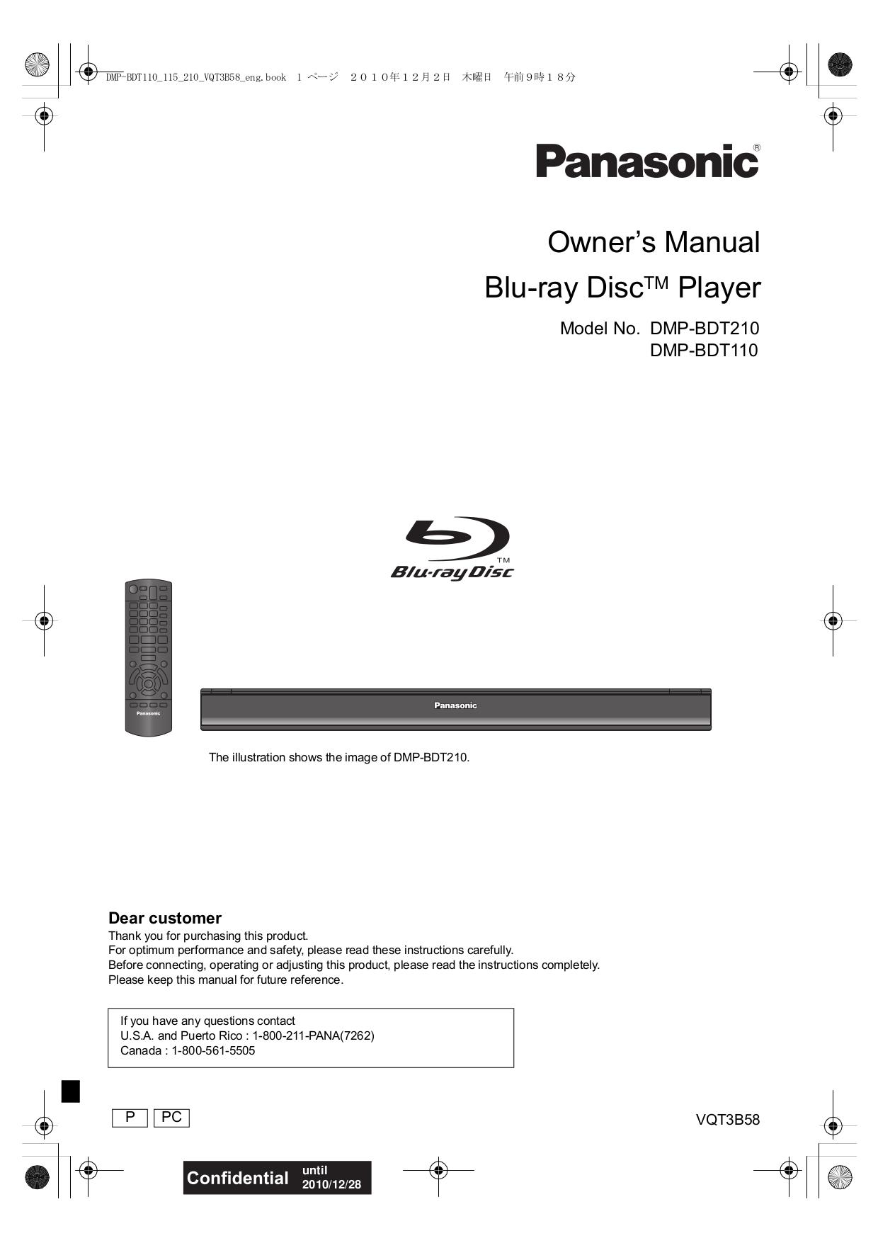 download free pdf for panasonic dmp bdt110 dvd players manual rh umlib com panasonic blu ray dmp-bdt110 manual panasonic blu ray dmp-bdt110 manual