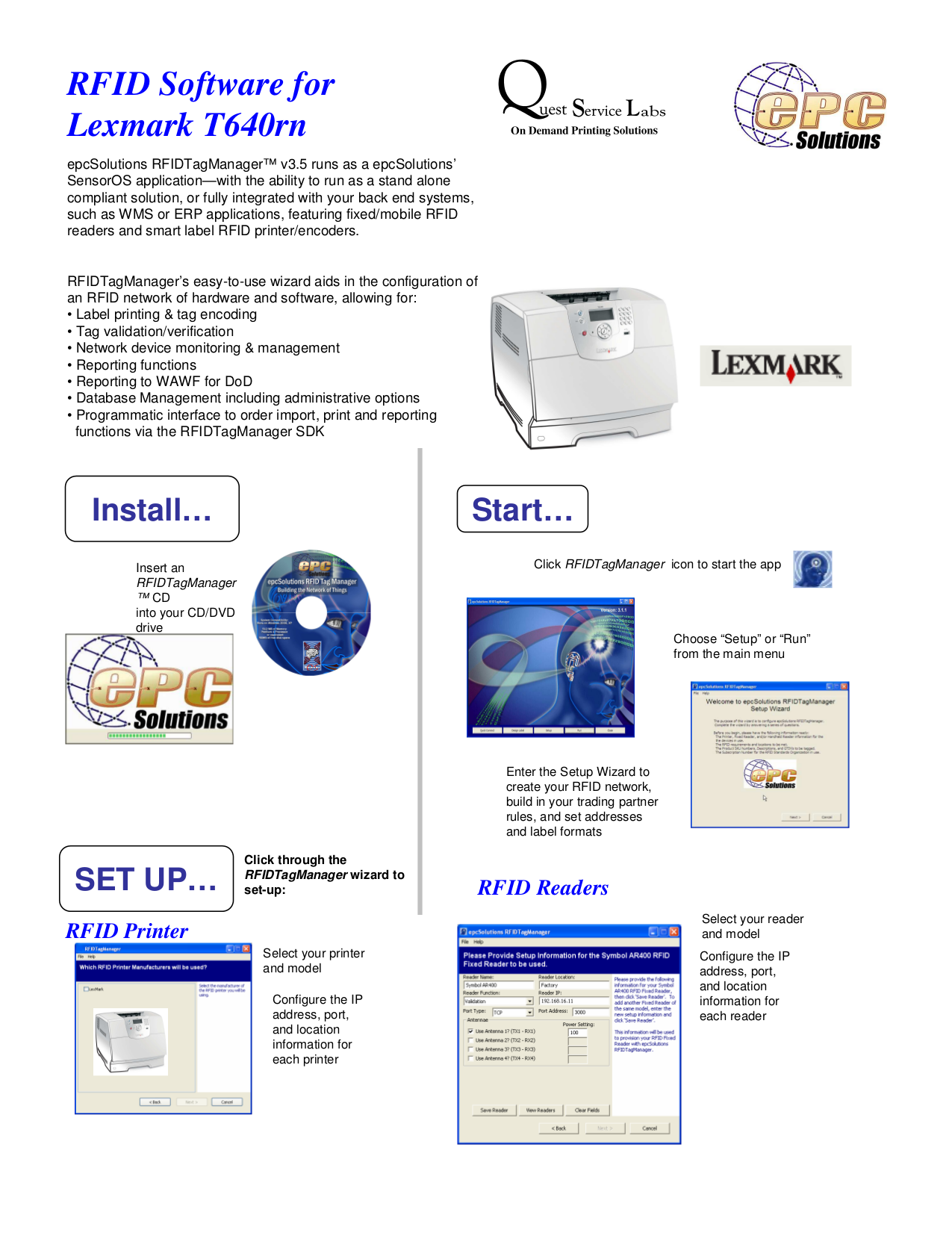 pdf for Lexmark Printer T640rn manual