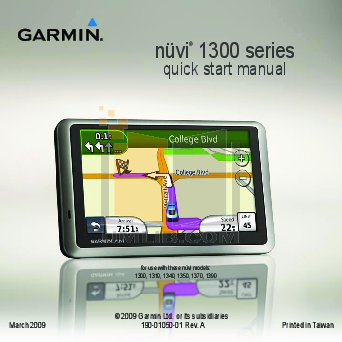 garmin nuvi 260w manual pdf