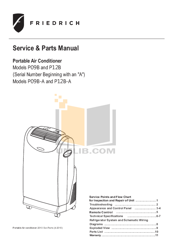 download free pdf for friedrich zoneaire p12b air conditioner manual rh umlib com Wiring Diagram for Trane 2Twr1030a1000ab American Standard AC Wiring Diagram