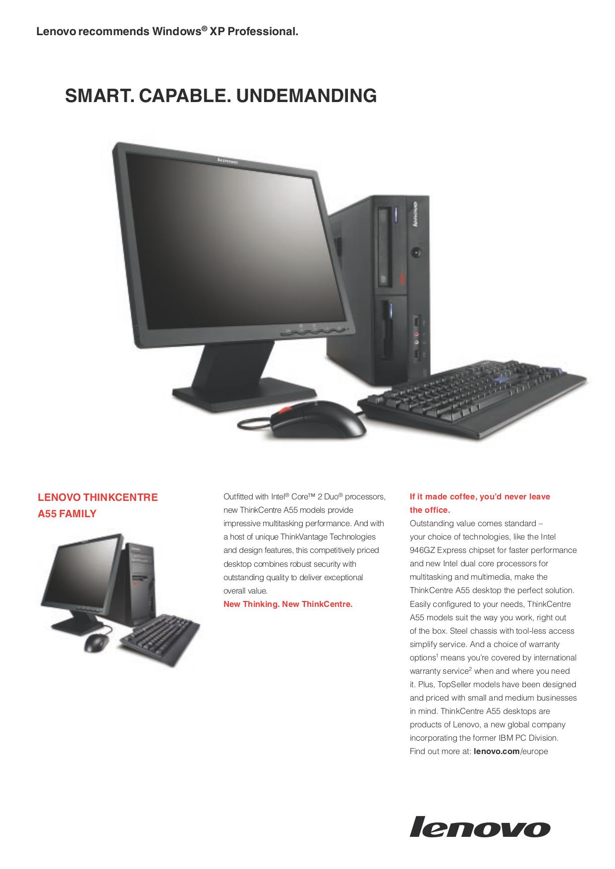 pdf for Lenovo Desktop ThinkCentre A55 8982 manual