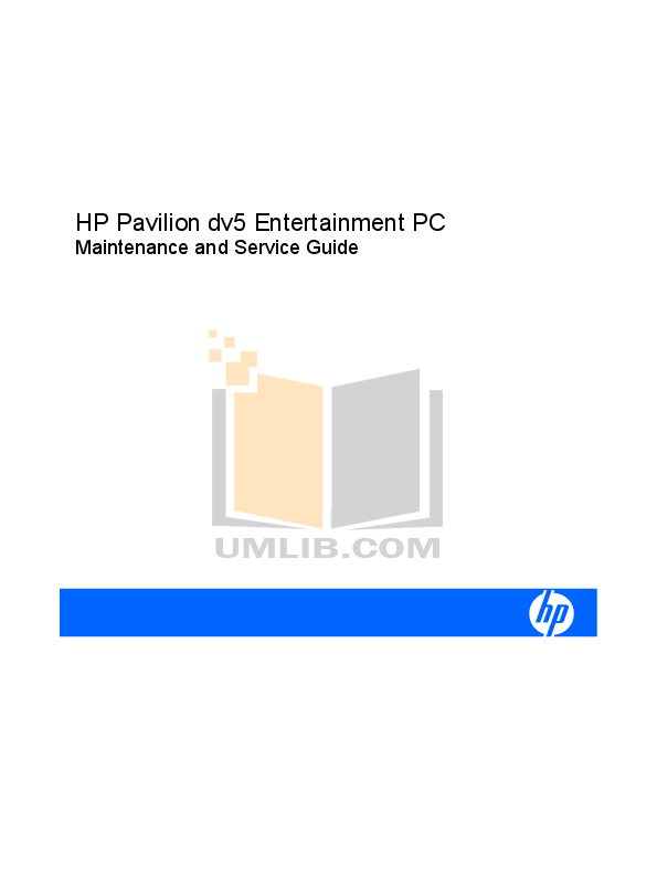 pdf for HP Laptop Pavilion DV5000z manual