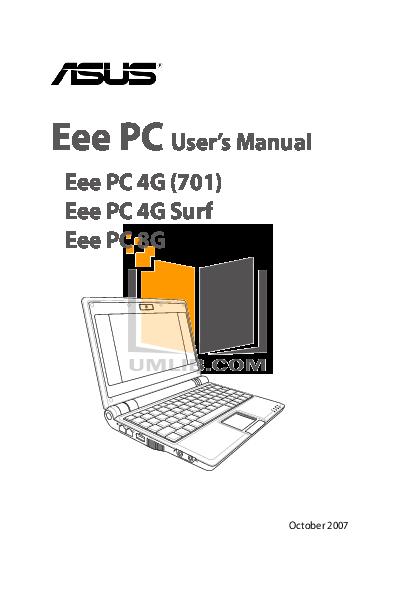 download free pdf for asus eee pc 4g laptop manual