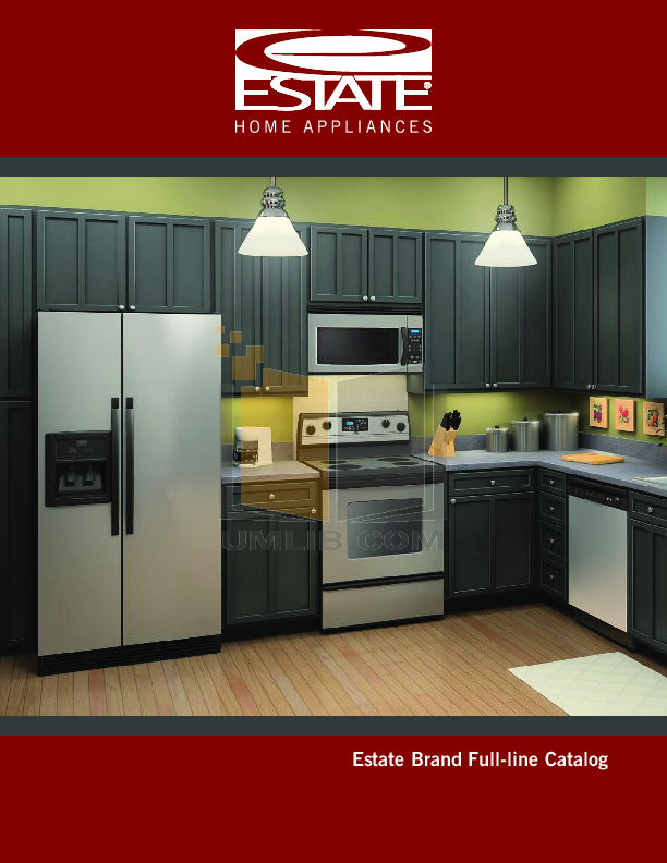 pdf for Estate Refrigerator TS25CGXTD manual