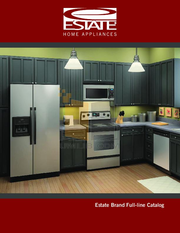 pdf for Estate Refrigerator TS25CGXTD manual