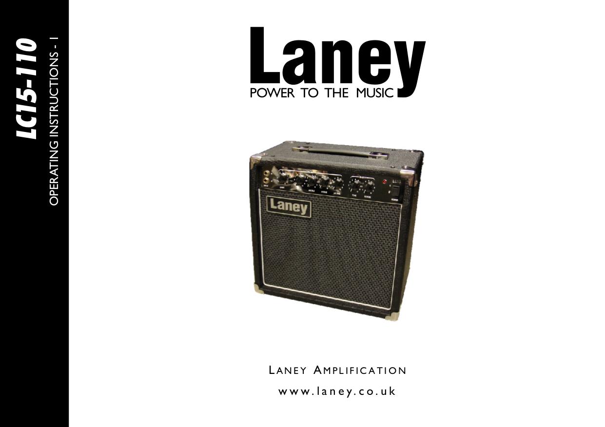 pdf for Laney Amp LC15-110 manual