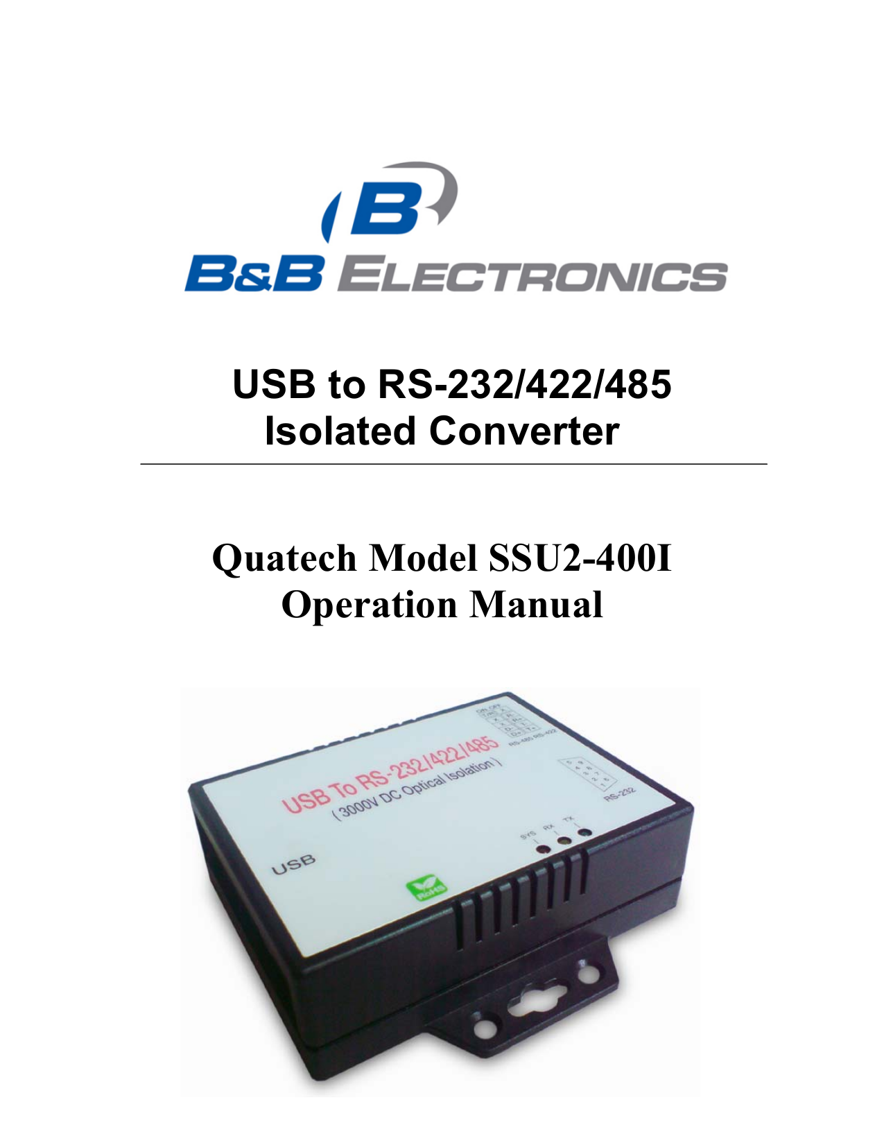 pdf for Quatech Other USBN-500 Servers manual