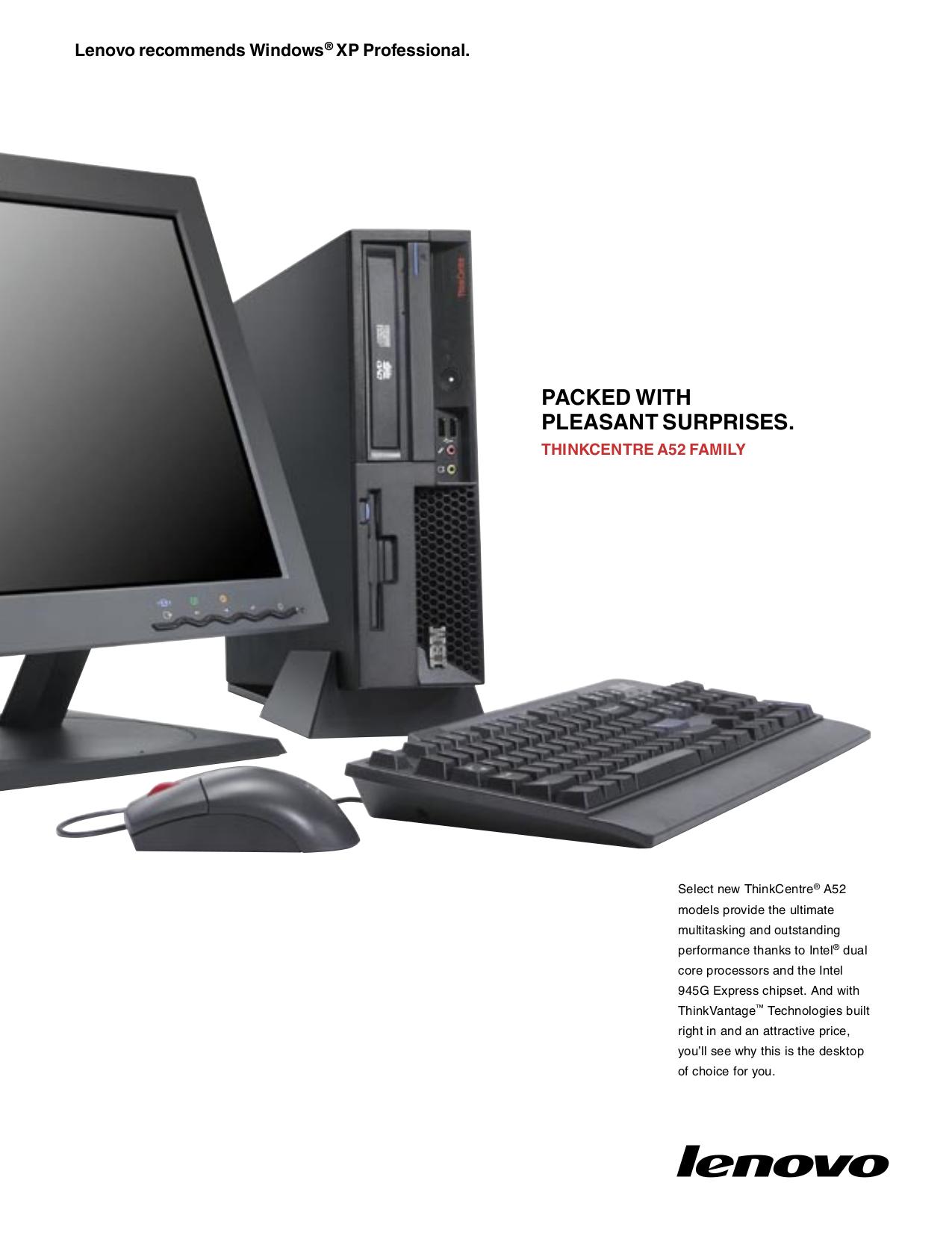 pdf for Lenovo Desktop ThinkCentre A52 8296 manual