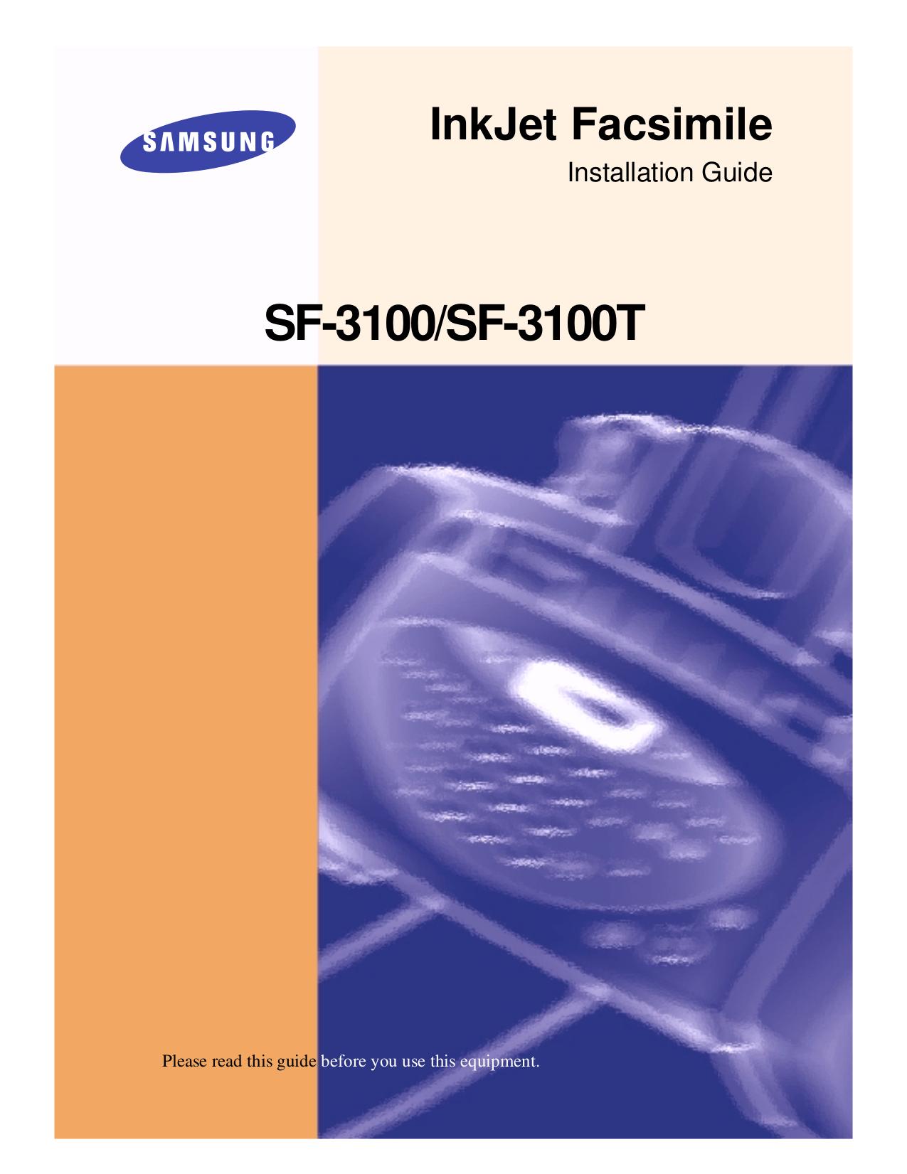 Samsung Sf-3100 Manual Instrucciones