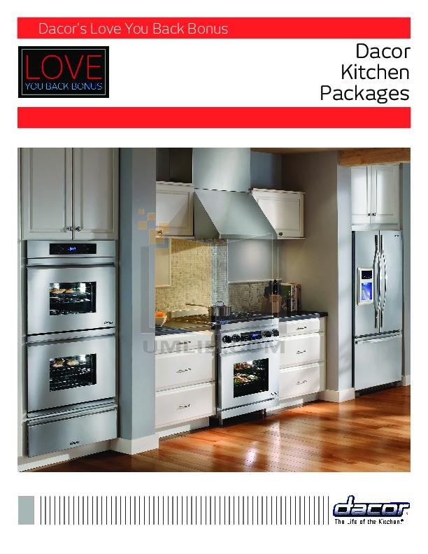 pdf for Dacor Range Preference RGC365S manual