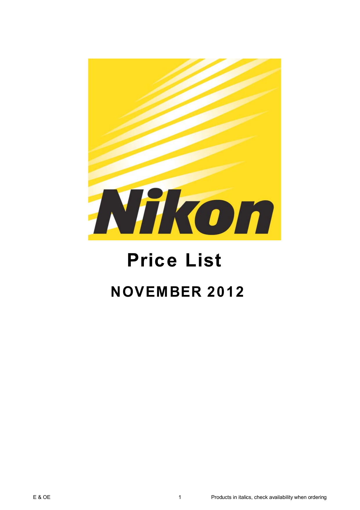 pdf for Nikon Other HL-CP11 Camera Lens Hood manual
