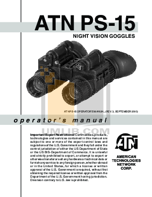 pdf for Atn Binocular PS-23-2 manual