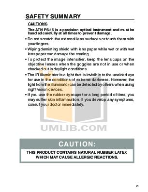 Atn Binocular PS-23-2 pdf page preview