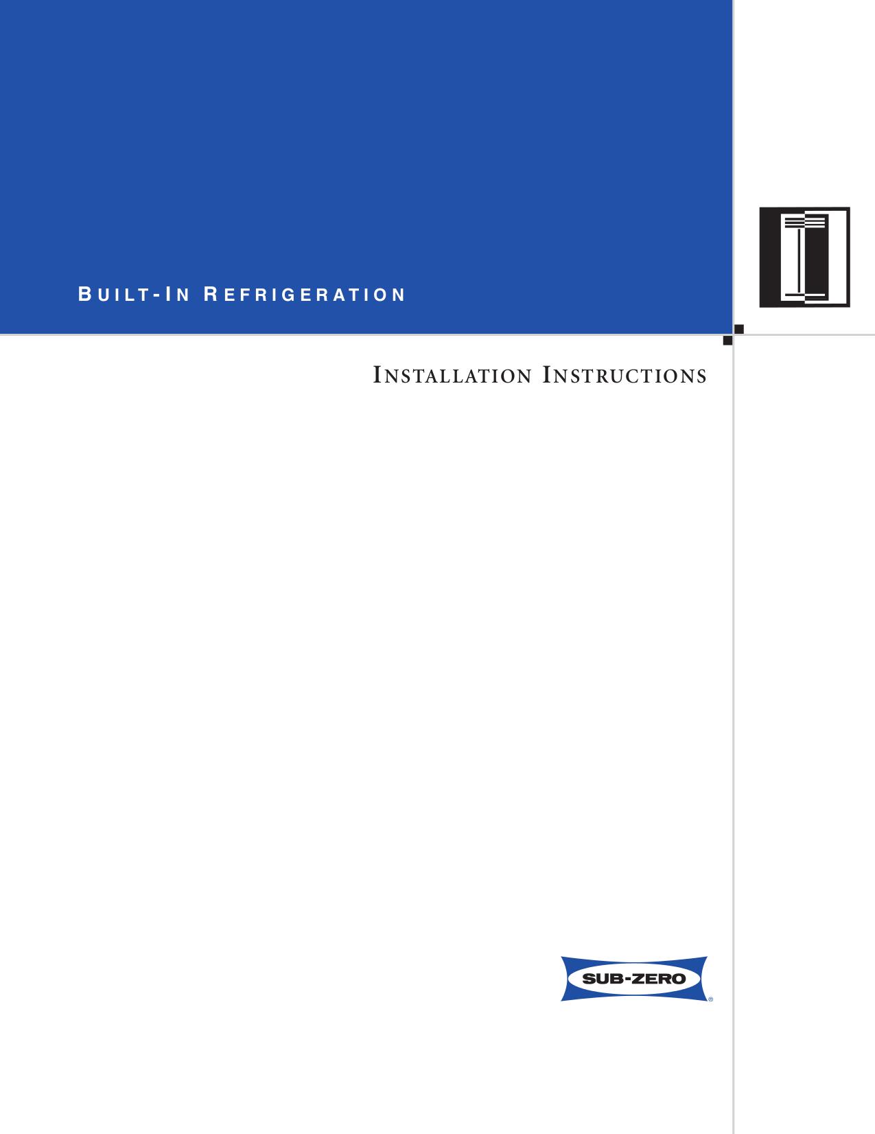 pdf for Wolf Freezer Sub-Zero 601F manual