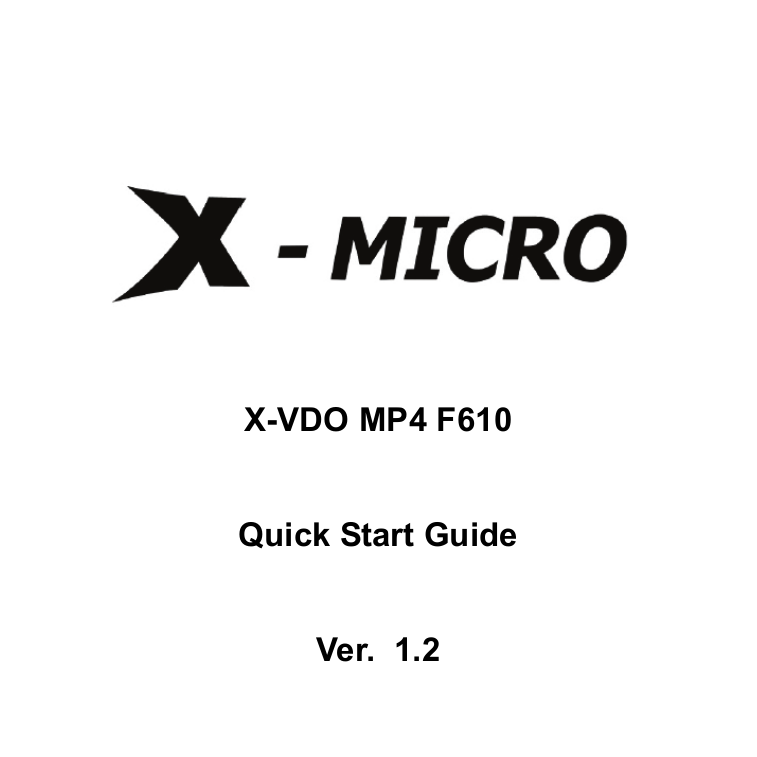 pdf for X-Micro Other XMP3-Y MP4 Players manual