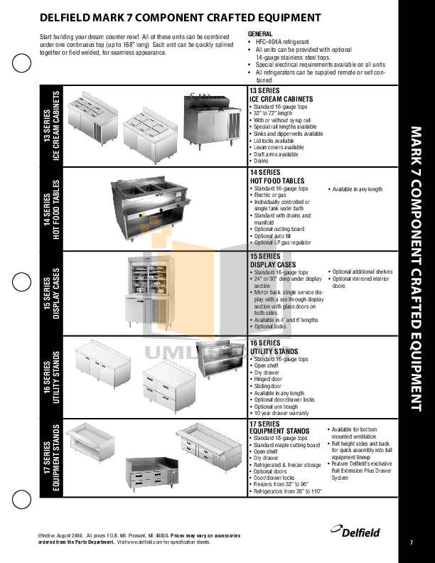 Delfield Refrigerator SAR1S-GH pdf page preview